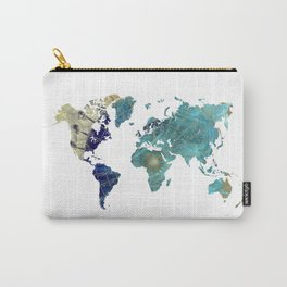 World Map Wind Rose Carry-All Pouch
