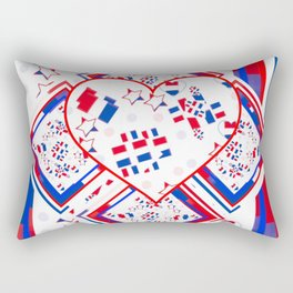 Patriotic Love Fest Rectangular Pillow
