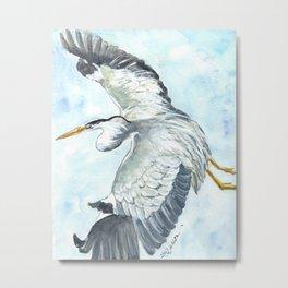 Soaring Heron Metal Print