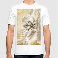 Gilded Lily White Mens Fitted Tee MEDIUM