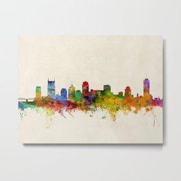 Nashville Tennessee Skyline Cityscape Metal Print