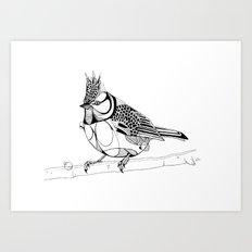 Crested Tit Art Print