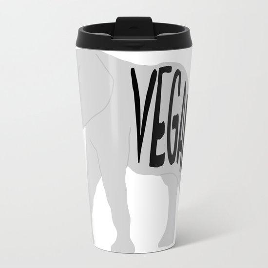 vegan (elephant)  Travel Mug