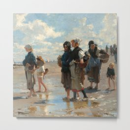 Setting Out to Fish Oil Painting by John Singer Sargent Metal Print