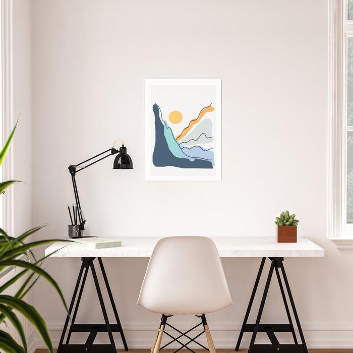 Minimalistic Landscape II Poster