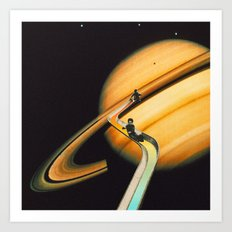 Saturn escape Art Print