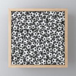 Soccer balls Framed Mini Art Print