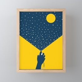 Starlight With Moon Accent Framed Mini Art Print