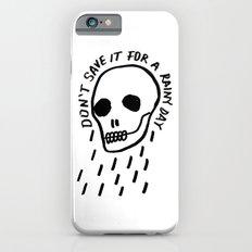 ink black and white skull illustration typography Slim Case iPhone 6s