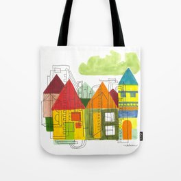 Little Block Town Tote Bag
