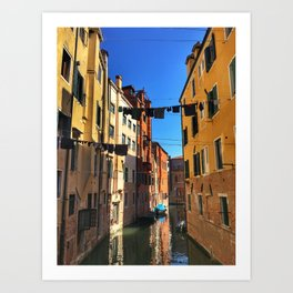 Laundry Day in Venice Art Print