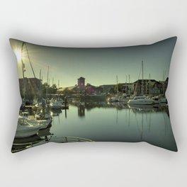 Swansea Docks Reflections Rectangular Pillow