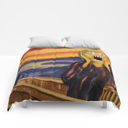 The Screamer - Really Freaked Out Comforters