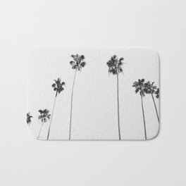 Black & White Palms Bath Mat