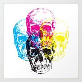 CMYK Skulls Art Print