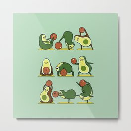 Avocado Yoga With The Seed Metal Print