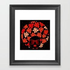Afro Diva : Coral Red Framed Art Print