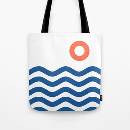 Nautical 02 Seascape Tote Bag