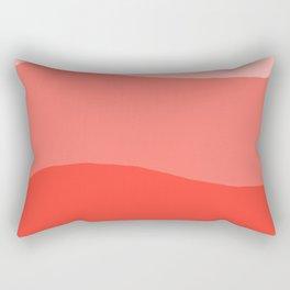 Living Coral Sushi Salmon Abstract Rectangular Pillow