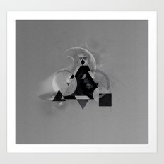 Abstract Triangle Art Print