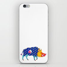 Fashion Animals, Spring 2014 Collection: Porc Sauvage Patriotique iPhone & iPod Skin
