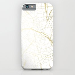 Paris Gold and White Street Map II iPhone Case