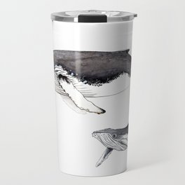 North Atlantic Humpback whale with calf Travel Mug