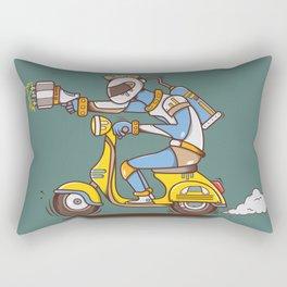 Space Scooterman Rectangular Pillow