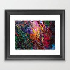 White eye Framed Art Print