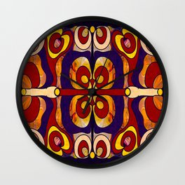 Celebration Of Sanity Abstract Bliss Art By Omashte Wall Clock