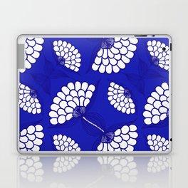 African Floral Motif on Royal Blue Laptop & iPad Skin