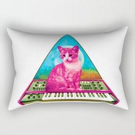 Cat on Synthesizer Rectangular Pillow