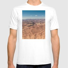 Canyonlands White MEDIUM Mens Fitted Tee