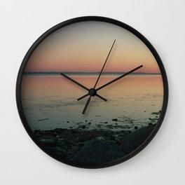 Baltic sea in a pinhole camera Wall Clock