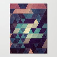 blankets Canvas Prints featuring cryyp by Spires