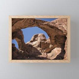 Double Arch - Horizontal Framed Mini Art Print