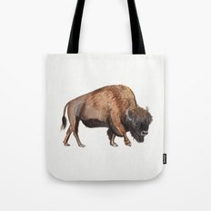 Little Watercolour Bison Drawing Tote Bag