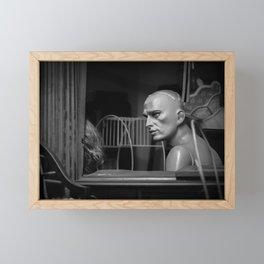 Serious Conversation Framed Mini Art Print