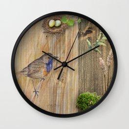 Bird Spring Collection Wall Clock