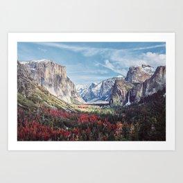Tunnel View Yosemite Valley Art Print