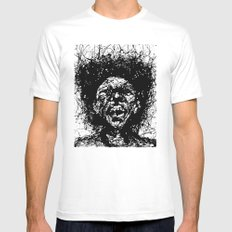Drip Face Mens Fitted Tee White MEDIUM