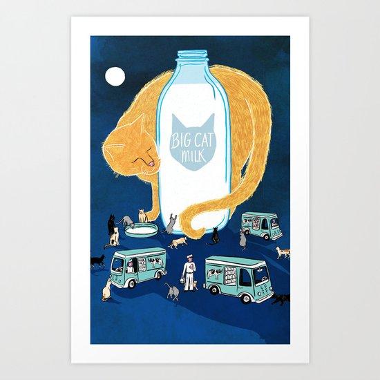 Big Cat Milk Art Print