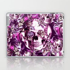 Plum Smoke and roses skull Illustration. Laptop & iPad Skin