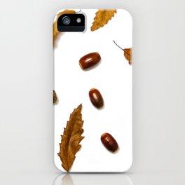 Acorns & Leafs (Color) iPhone Case
