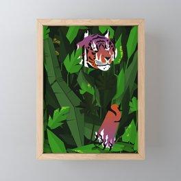 Wildfire in the jungle Framed Mini Art Print