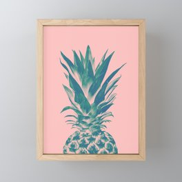 Blush Pineapple Dream #3 #tropical #fruit #decor #art #society6 Framed Mini Art Print