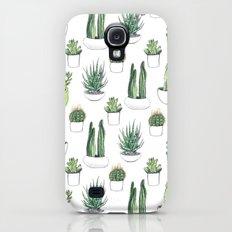 watercolour cacti and succulent Galaxy S4 Slim Case