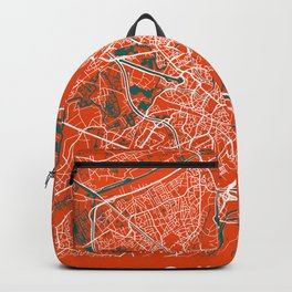 GHENT Map Belgium | Tomato - More Colors, Review My Collections Backpack
