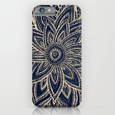 Cute Retro Gold abstract Flower Drawing  geometric Slim Case iPhone 6