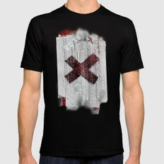 Cross my heart and hope .... Black MEDIUM Mens Fitted Tee